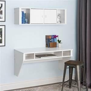 Petit Bureau Ordinateur : bureau suspendu 25 exemples de petits meubles pratiques ~ Teatrodelosmanantiales.com Idées de Décoration