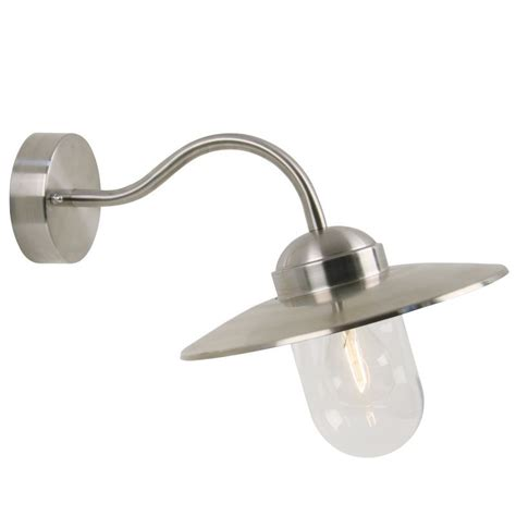 nordlux luxembourg outdoor wall light stainless steel