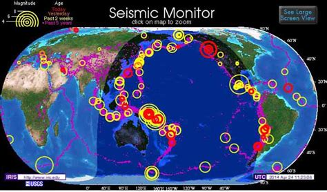 ring  fire earthquakes march april