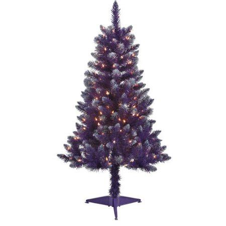 artificial christmas trees at wal mart 4 pre lit blue tinsel artificial tree clear lights walmart