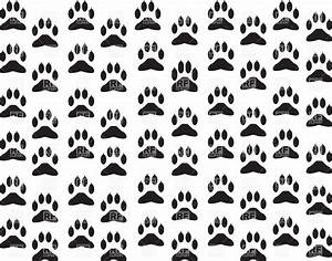 Dog's paw print background Vector Illustration of ...