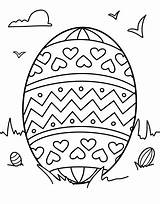 Template Coloring Easter Egg Printable Pages Printables sketch template