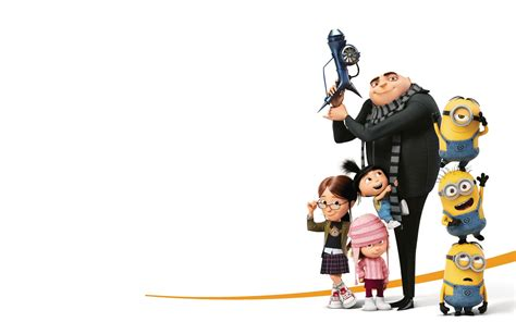 wallpaper despicable me 3 margo agnes edith minions gru 4k 7620