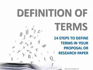 research or proposal writing definition of terms With what is the meaning of template