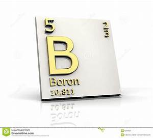 Boron From Periodic Table Of Elements Stock Image - Image ...