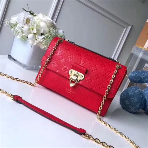 louis vuitton vavin pm bag  scarlet red   pursebestcom