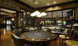 perfect guys retreat! A luxury poker room within a rec room!