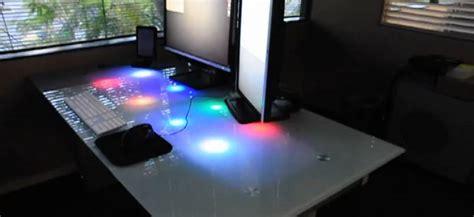le de bureau led diy 201 clairer bureau avec des led pour notifier la r 233 ception d emails semageek