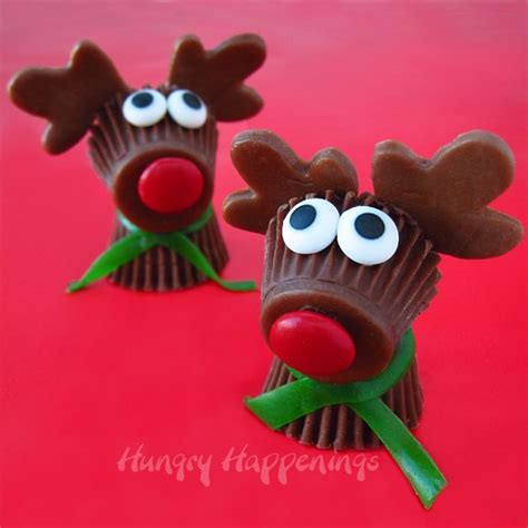 reese s cup rudolph the red nose reindeer christmas desserts