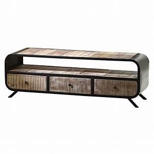Tv Lowboard Metall : tv lowboard drobak aus recyceltem massivholz und metall m bel24 ~ Indierocktalk.com Haus und Dekorationen