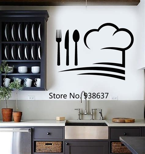 wall stickers for kitchen design chef hat wall decals vinyl wall stickers home decor 8887