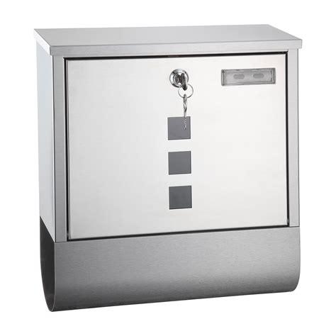 www briefkasten de metall briefkasten oslo edelstahl design mit zeitungsrolle