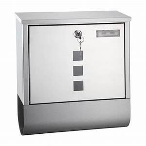 Briefkasten Edelstahl Design : metall briefkasten oslo edelstahl design mit zeitungsrolle ~ Markanthonyermac.com Haus und Dekorationen