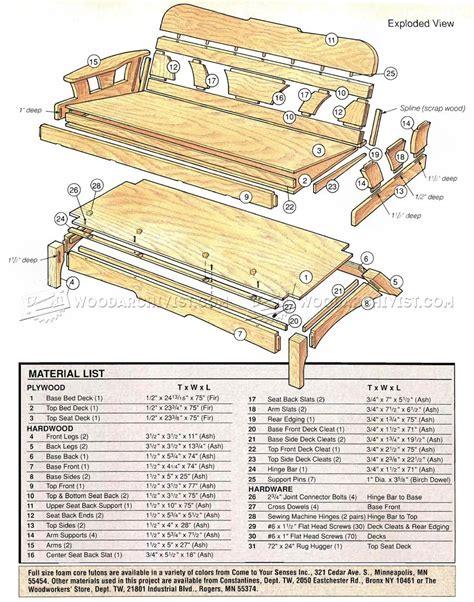 Sofa Bed Plans by Futon Sofa Bed Plans Woodarchivist