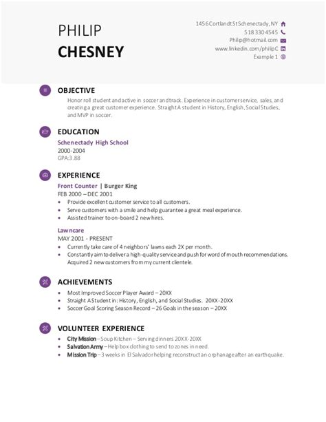 Demo Of Resume For by High School Resume Demo Template