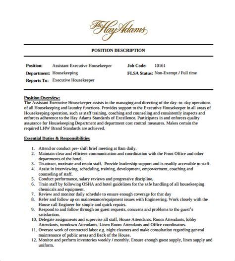 sample housekeeping resume templates   ms word