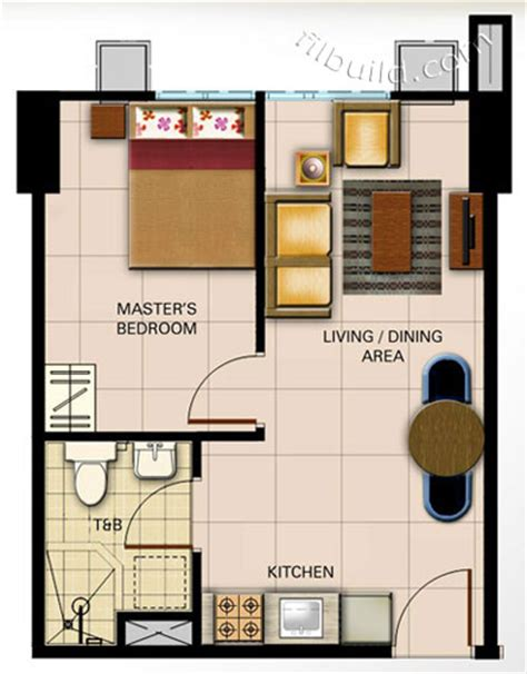 1 Bedroom Unit Rental by Condo Sale At Avida Towers Centera Floor Plans Finishes