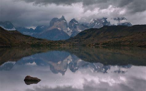 Cuernos Reflections At Puente Weber Torres Del Paine