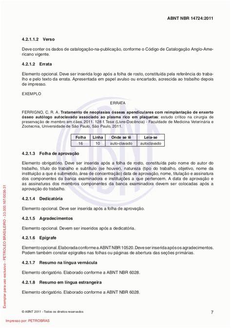 lucas autor em normas abnt pá 2 de 2 norma abnt nbr 14724 2011 norma para trabalhos acadêmicos