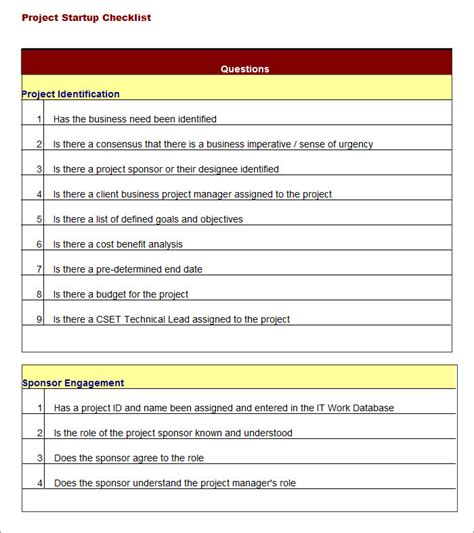 project list template project checklist template 11 free word pdf documents free premium templates