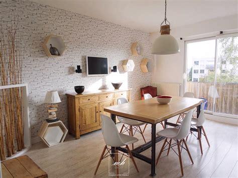 cuisine melange ancien moderne cuisine salle à manger indus scandinave