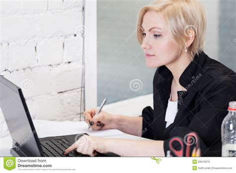 Working Hard Stock Image Image Of Patience Table