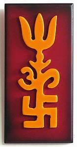 An Fitting Size Chart Om Swastika And Trident Auspicious Hindu Symbols Wall