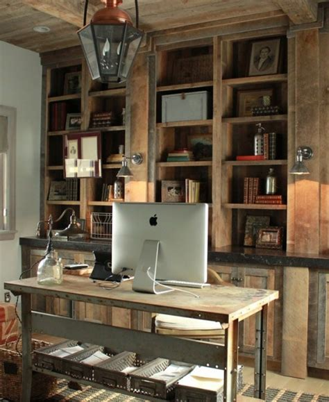 42 Awesome Rustic Home Office Designs  Digsdigs. Outdoor Industrial Lighting. Metal Dining Table. Island Legs. Gray Wood Coffee Table. Microwave Pantry. Attic Renovation. Best Carpet Padding. Silestone Stellar Snow
