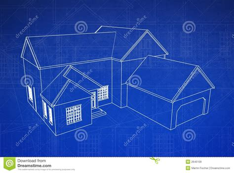 blue prints for a house 3d house blueprint stock illustration illustration of