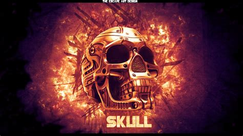 Badass Wallpapers Skulls Wallpapersafari