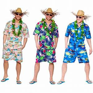 Mens Hawaiian Party Guy Luau Summer Beach BBQ Shirt ...