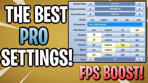 fortnite  competitive settings options  pc