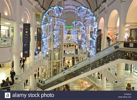 christmas decorations in wandswarth shopping centre london the bentall centre at kingston upon thames royal borough stock photo 78362877 alamy
