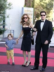 John Travolta, Kelly Preston and their kids Ella and ...