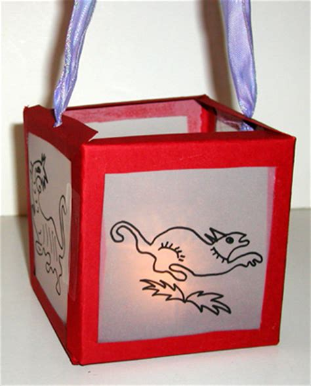 lanterne chinoise en papier calque sur t 234 te 224 modeler ados