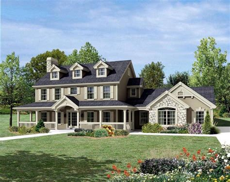 country farmhouse floor plans house plan 95822 cape cod colonial country farmhouse