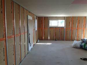 Doubler Un Mur En Placo Sur Rail : suite placo et mur en b ton de chaux one house espirat notre future maison ~ Dode.kayakingforconservation.com Idées de Décoration