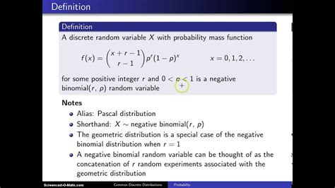 negative binomial distribution youtube