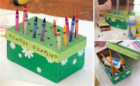 diy ideas  recycled shoe box