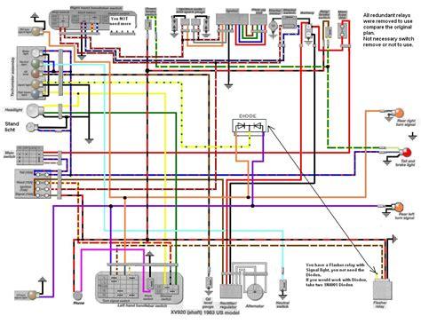 1995 yamaha virago 1100 wiring diagram wiring diagram