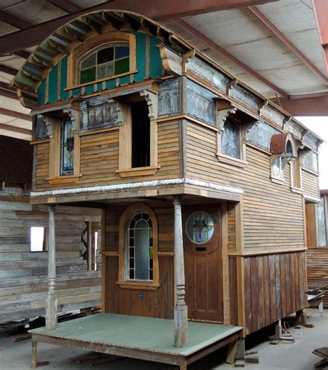 Compact House Made From Affordable Materials by Tiny Houses Recycled Materials Looks So
