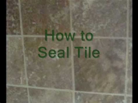 seal tile  grout youtube