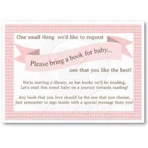 Baby Shower Book Request Insert