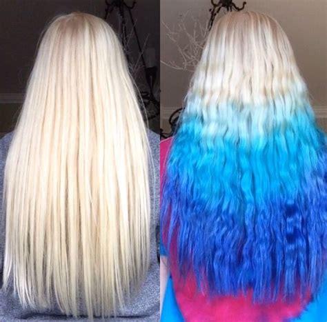 platinum blonde  blue ombre hair colors ideas