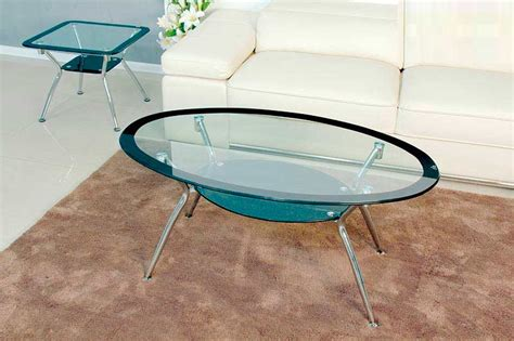 Modern coffee tables for a luxe living room. Oval Glass Top Coffee table BM 029   Contemporary