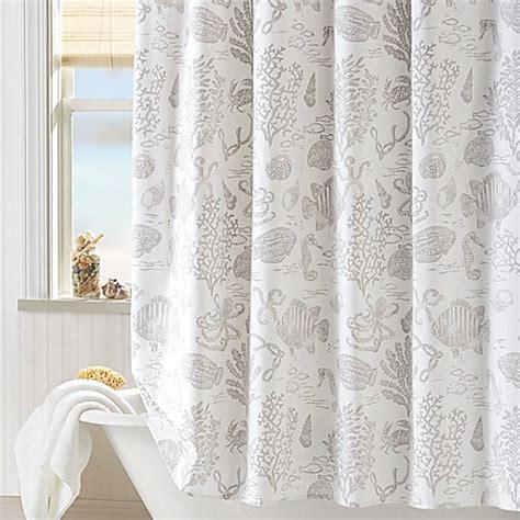 coastal shower curtains coastal living 174 sea shower curtain bed bath beyond
