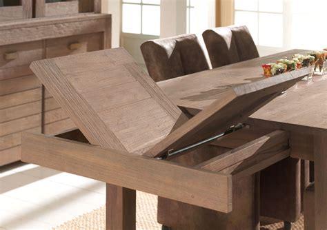 lambermont cuisine table de salle a manger bois massif avec rallonge
