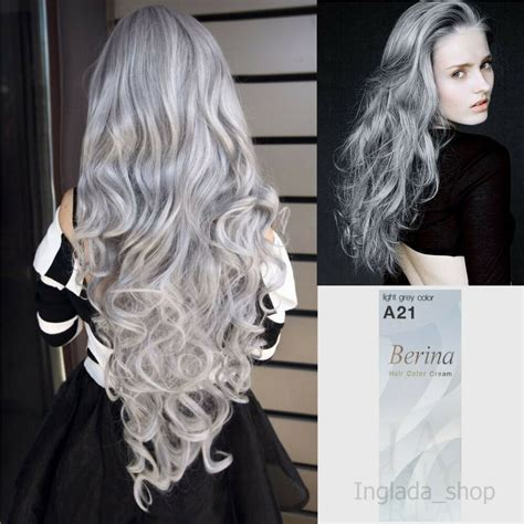 Berina A21 Hair Color Cream With Light Gray Color