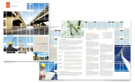 civil engineers brochure template word publisher