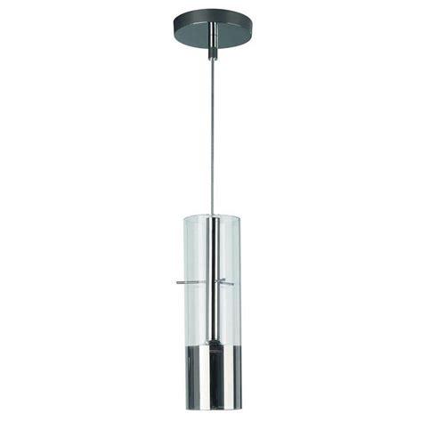 philips tubuled 1 light chrome led hanging pendant 407151148 the home depot